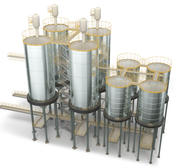 silos 4 3d model