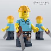 레고 카펜터 피규어 3d model