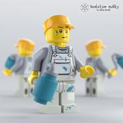 레고 데코레이터 그림 3d model