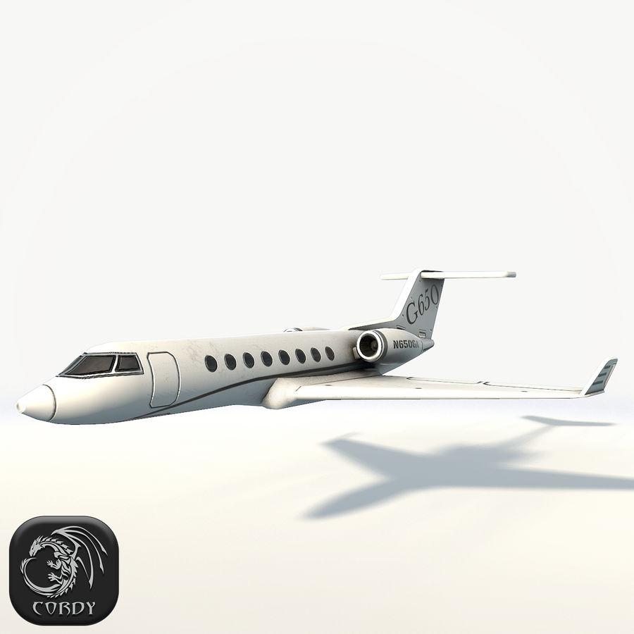 Gulfstream g650 plane 3D Model $29 -  unknown  blend  max  obj  fbx