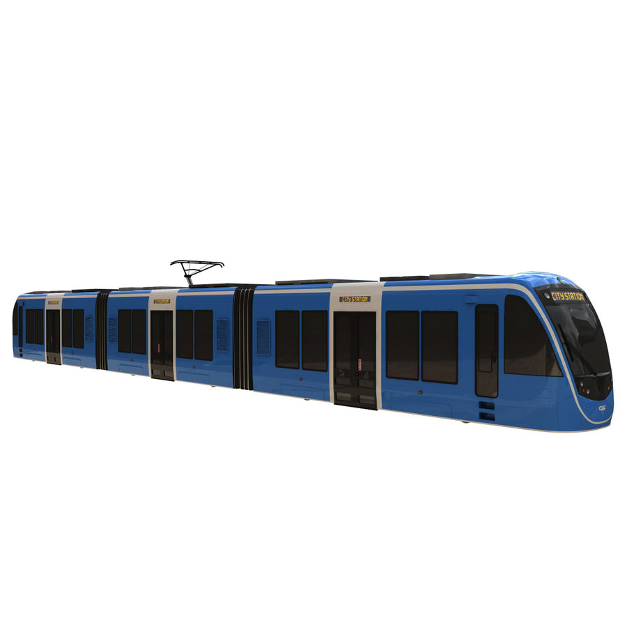 Tram 3 royalty-free 3d model - Preview no. 1