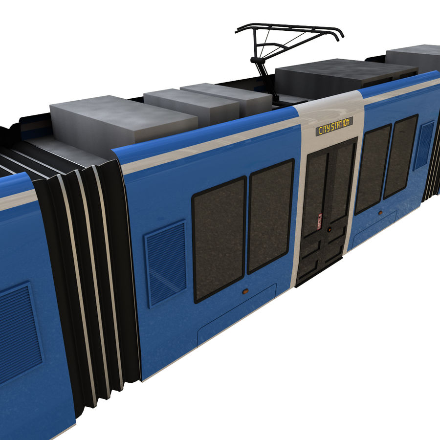 Tram 3 royalty-free 3d model - Preview no. 11