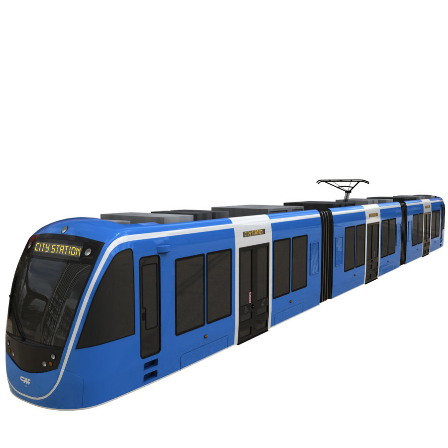 Tram 3 royalty-free 3d model - Preview no. 5