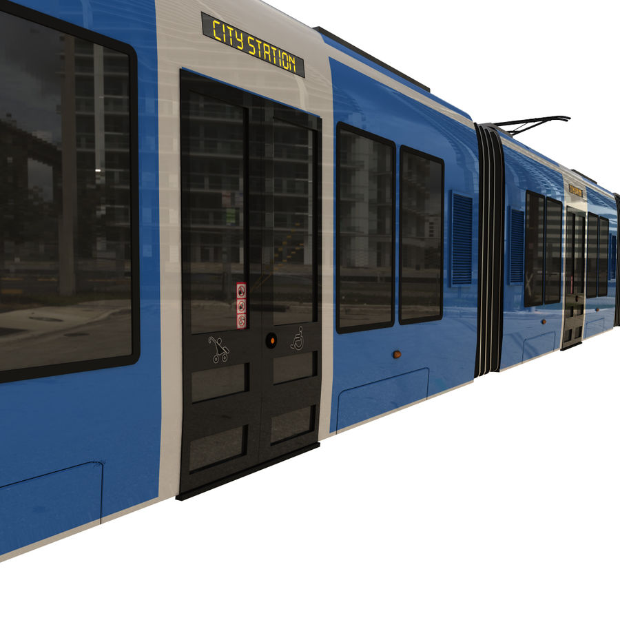 Tram 3 royalty-free 3d model - Preview no. 10