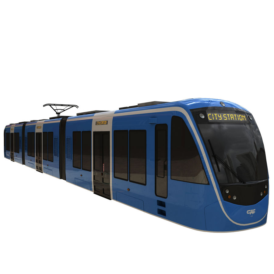 Tram 3 royalty-free 3d model - Preview no. 2