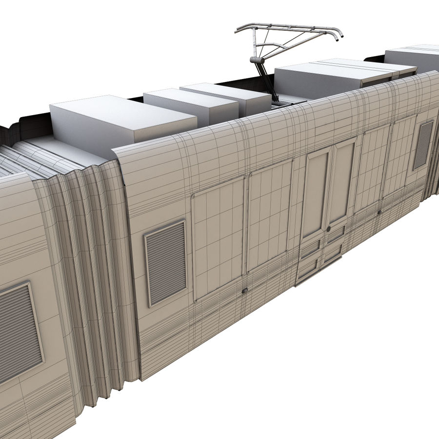 Tram 3 royalty-free 3d model - Preview no. 12