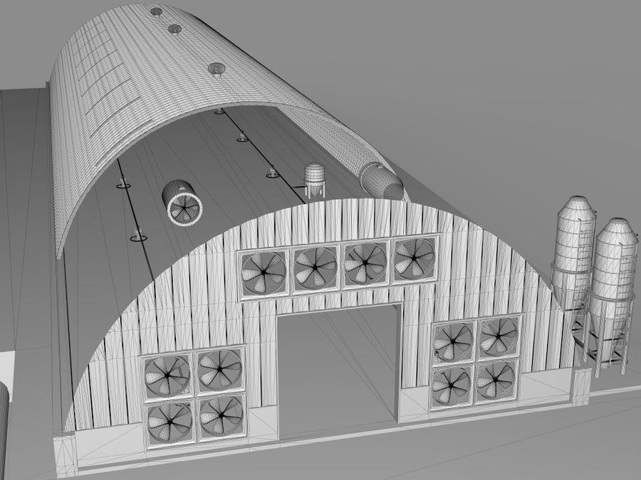 Élevage de volailles royalty-free 3d model - Preview no. 14