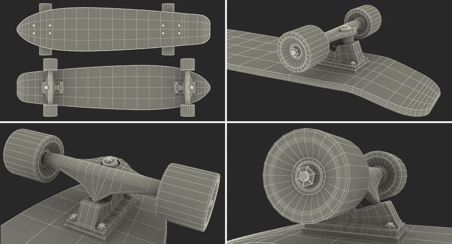 Longboard Generic royalty-free 3d model - Preview no. 16