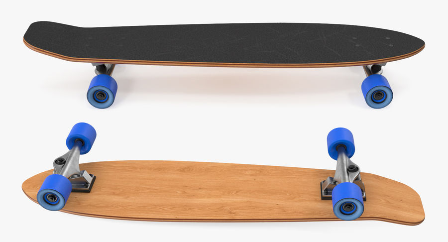 Longboard Generic royalty-free 3d model - Preview no. 4