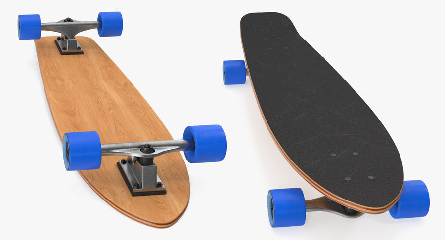 Longboard Generic royalty-free 3d model - Preview no. 3