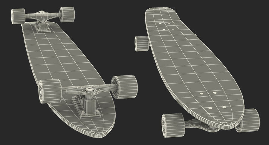Longboard Generic royalty-free 3d model - Preview no. 15