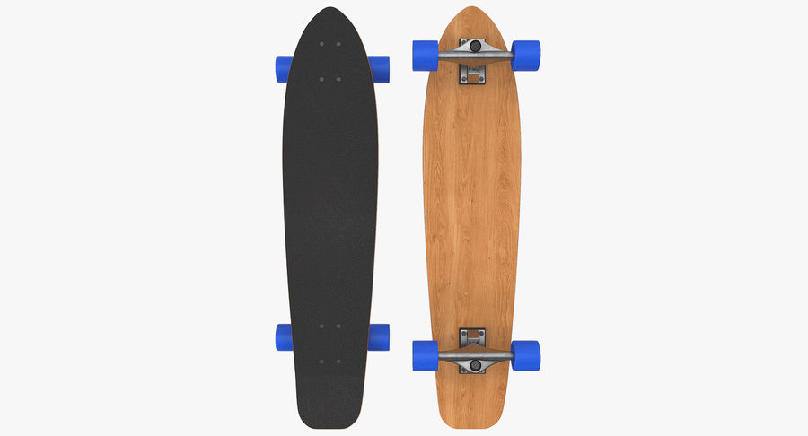 Longboard Generic royalty-free 3d model - Preview no. 2