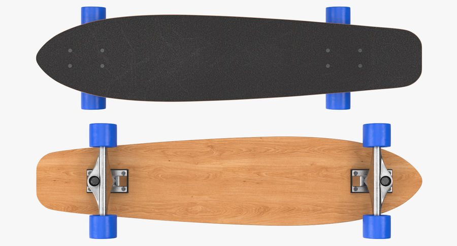 Longboard Generic royalty-free 3d model - Preview no. 6