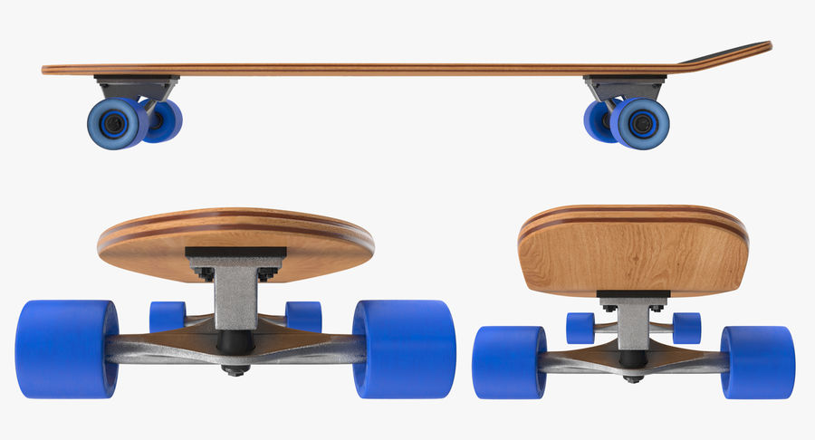 Longboard Generic royalty-free 3d model - Preview no. 5