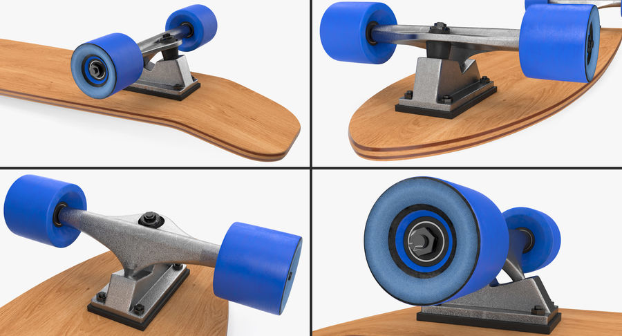 Longboard Generic royalty-free 3d model - Preview no. 7
