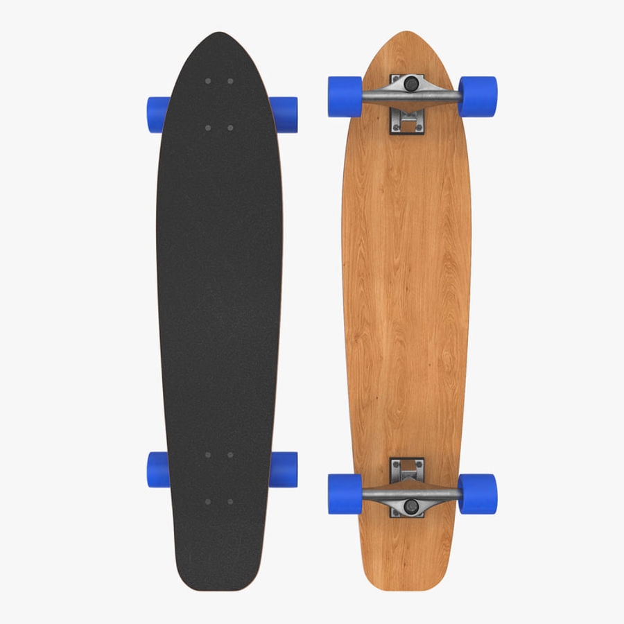 Longboard Generic royalty-free 3d model - Preview no. 1