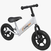 Kids child push balance bike bicycle 3d model