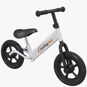 Niños niños empujar equilibrio bicicleta bicicleta modelo 3d