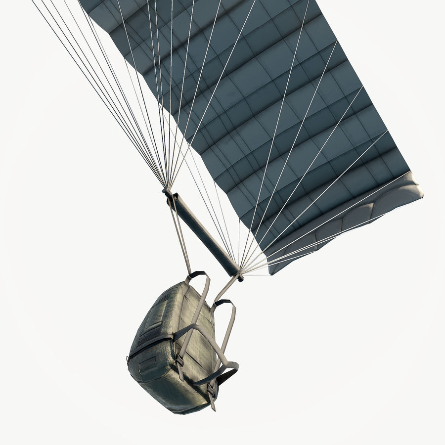 Parachute laag poly royalty-free 3d model - Preview no. 9