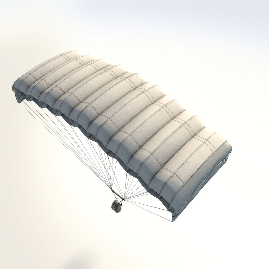 Parachute low poly royalty-free 3d model - Preview no. 7
