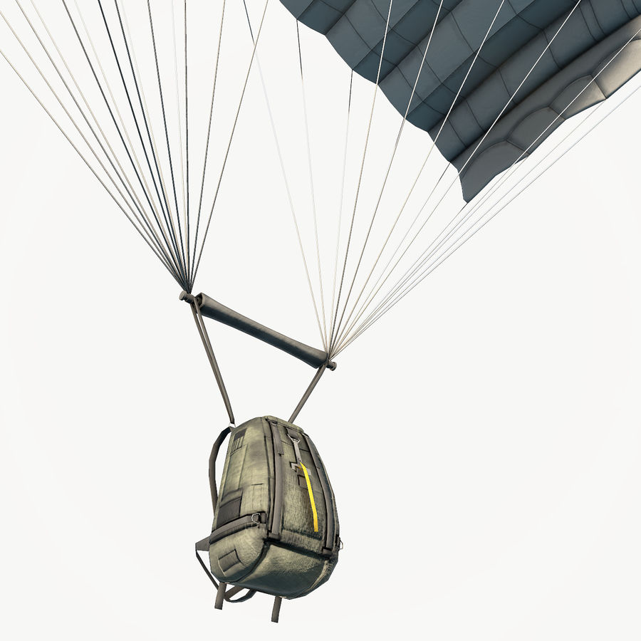 Parachute low poly royalty-free 3d model - Preview no. 11
