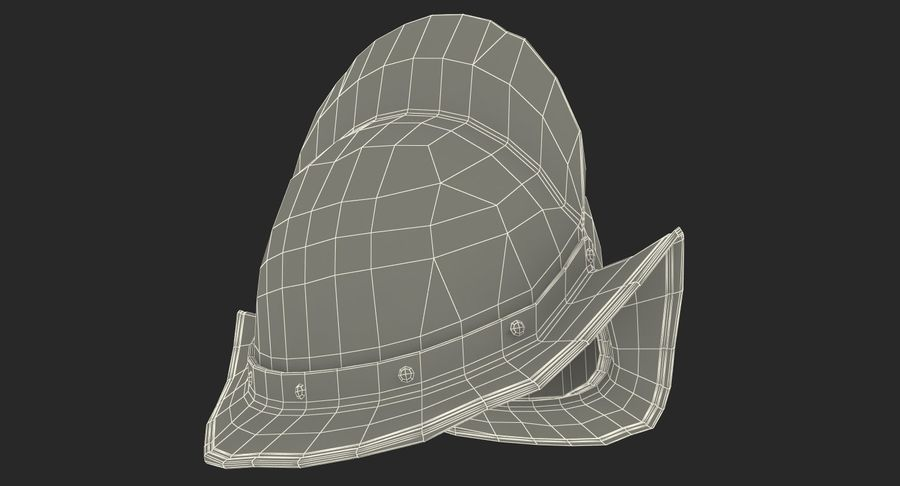 İspanyol Tarak Morion Kask royalty-free 3d model - Preview no. 15