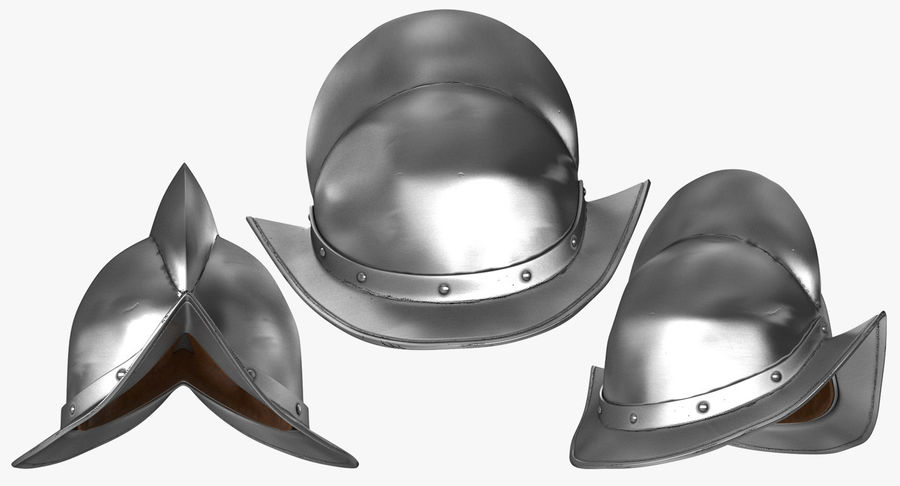 İspanyol Tarak Morion Kask royalty-free 3d model - Preview no. 3