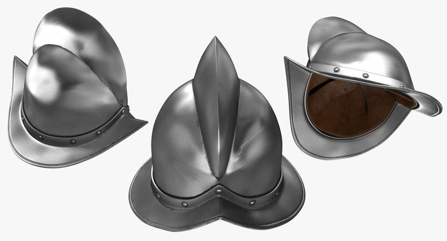 Casco Morion a pettine spagnolo royalty-free 3d model - Preview no. 5