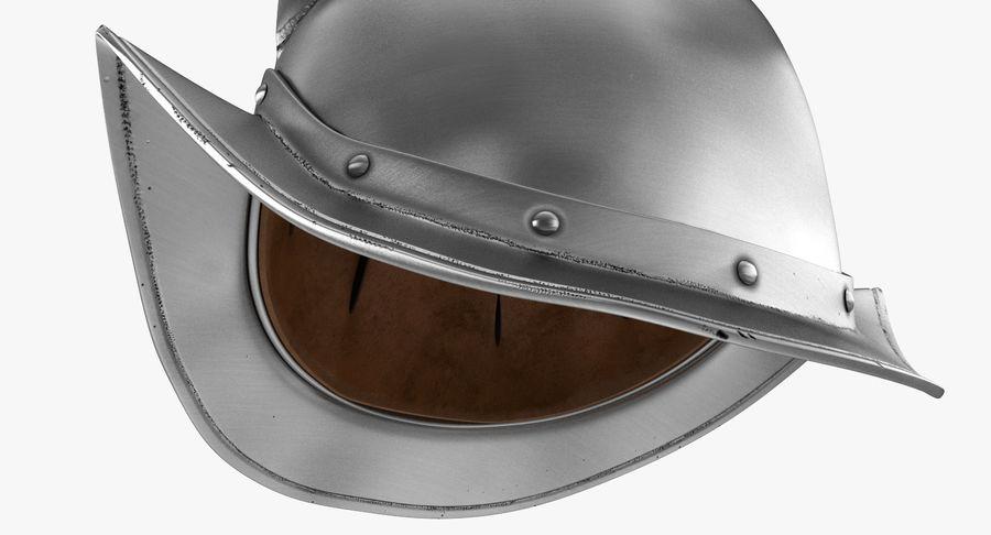 Casco Morion a pettine spagnolo royalty-free 3d model - Preview no. 4