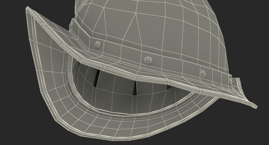 İspanyol Tarak Morion Kask royalty-free 3d model - Preview no. 17