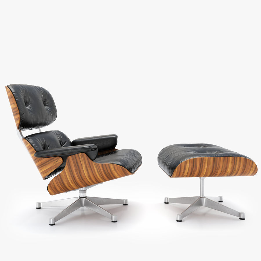 Incredible Vitra Lounge Chair Ottoman Charles Ray Eames 3D Model Short Links Chair Design For Home Short Linksinfo