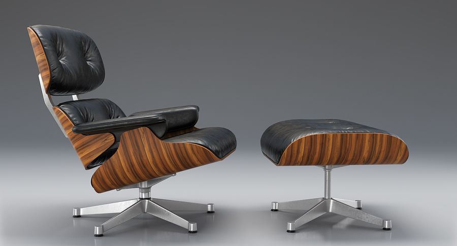 Sensational Vitra Lounge Chair Ottoman Charles Ray Eames 3D Model Short Links Chair Design For Home Short Linksinfo