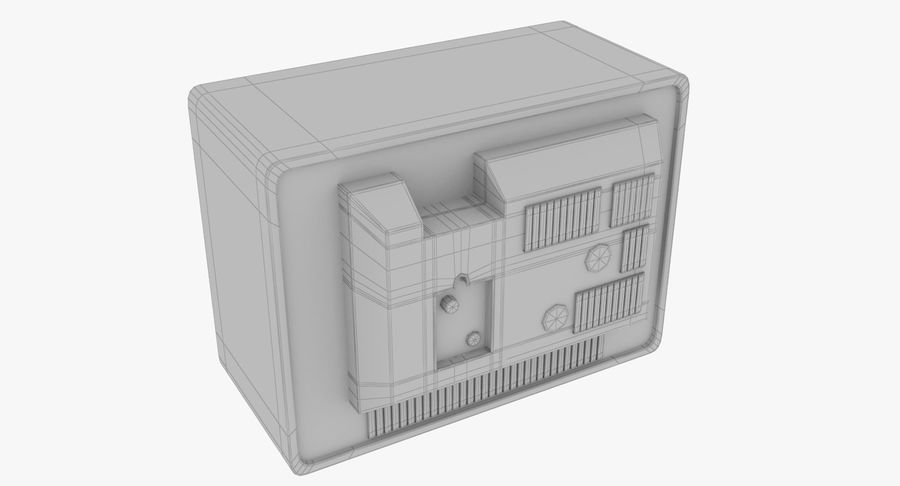 Old TV royalty-free 3d model - Preview no. 13