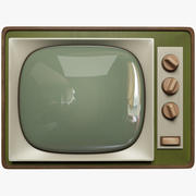 TV vieja modelo 3d