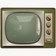 Старый телевизор 3d model