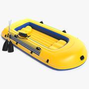 Uppblåsbar båt 3d model