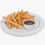 Pommes frites 3 3d model