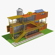 Containerhaus 04 3d model