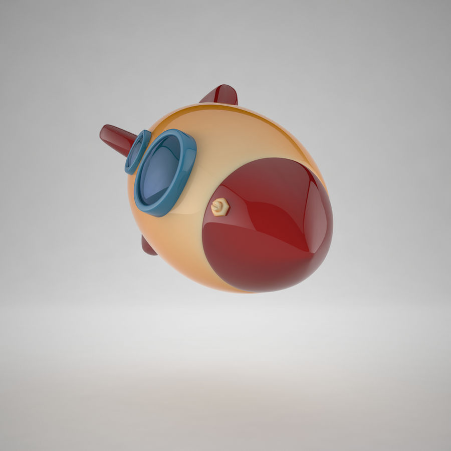 Cartoon Space Rocket royalty-free 3d model - Preview no. 13