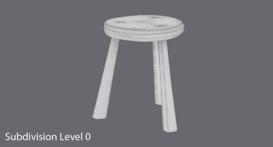 Sgabello rustico 01 modello 3d $49 .upk .unitypackage .max free3d