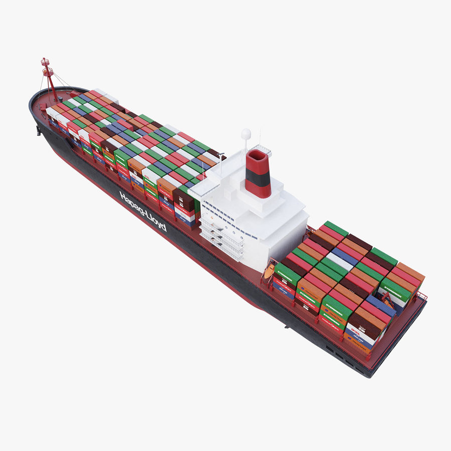 Container ship royalty-free 3d model - Preview no. 6