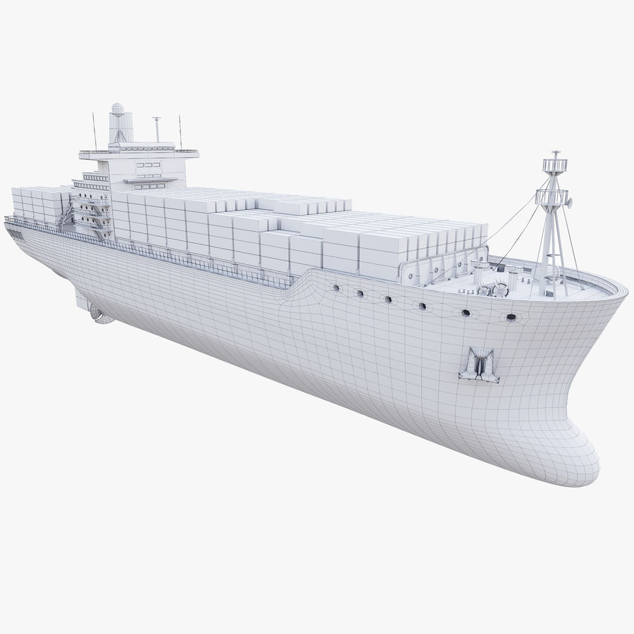 Container ship royalty-free 3d model - Preview no. 10