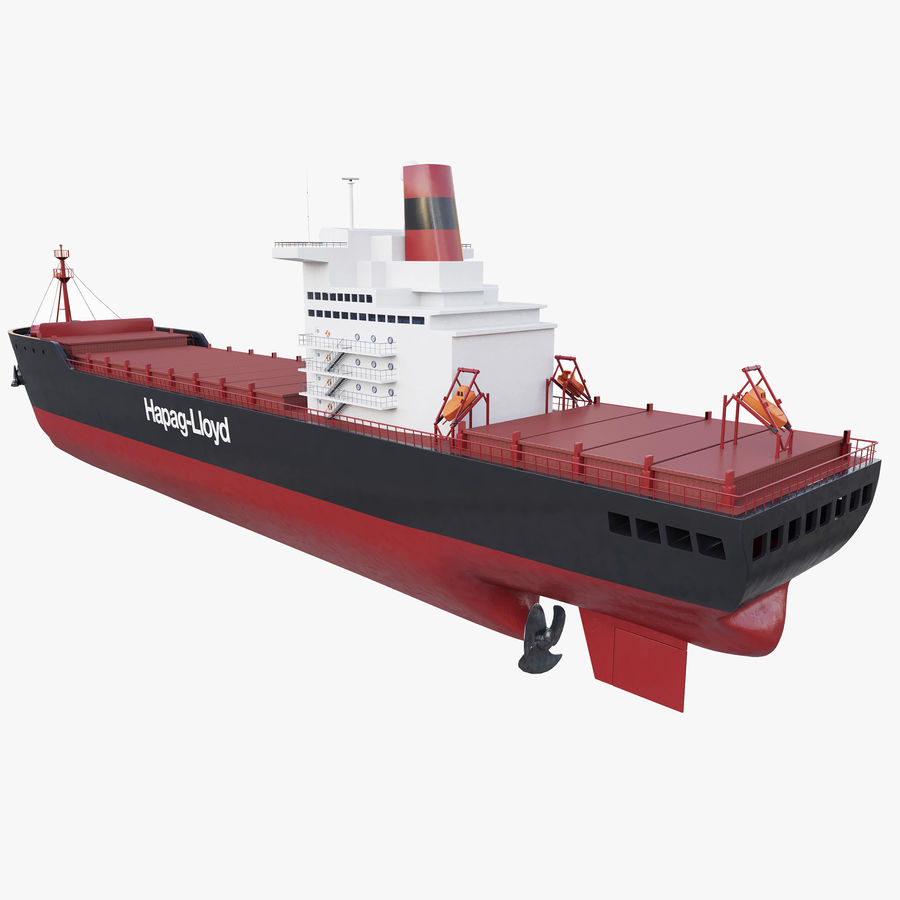 Container ship royalty-free 3d model - Preview no. 4