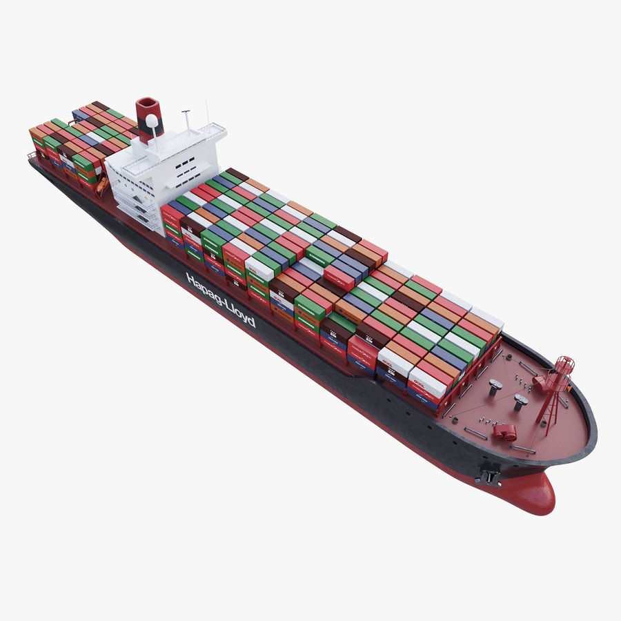 Container ship royalty-free 3d model - Preview no. 5