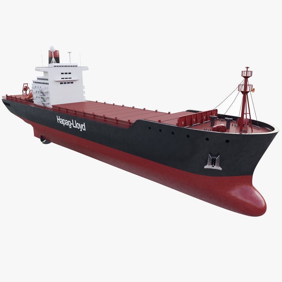 Container ship royalty-free 3d model - Preview no. 2