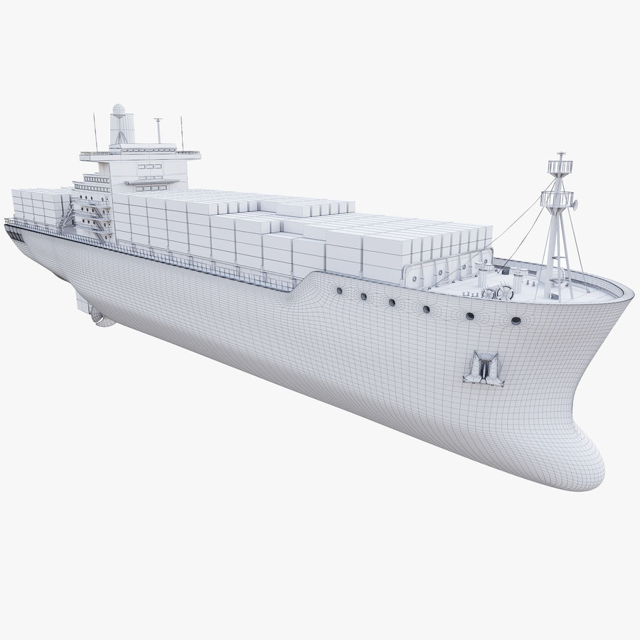 Container ship royalty-free 3d model - Preview no. 11