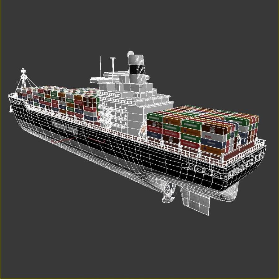 Container ship royalty-free 3d model - Preview no. 8