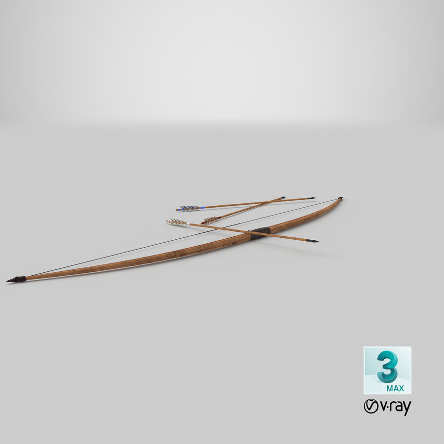 Medieval Bow royalty-free 3d model - Preview no. 23