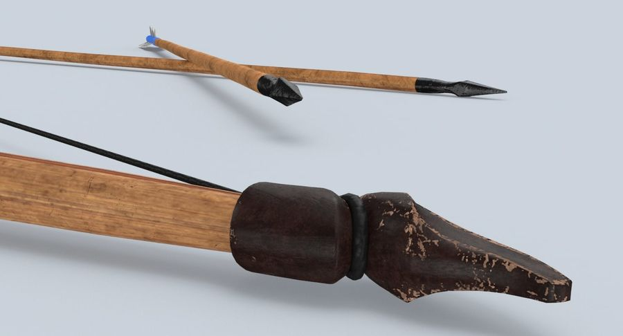 Medieval Bow royalty-free 3d model - Preview no. 12