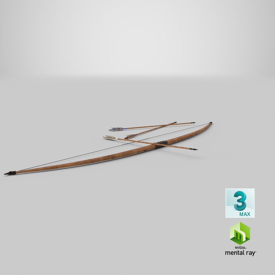 Medieval Bow royalty-free 3d model - Preview no. 24